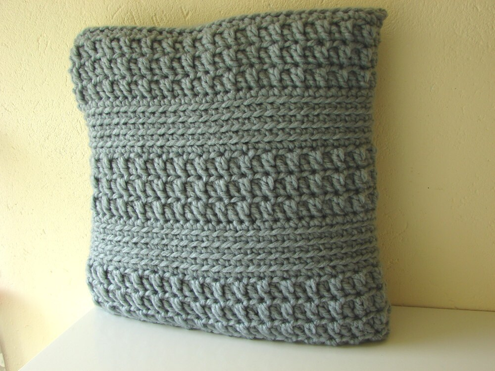 Crochet pattern chunky cushion cover  pattern bulky yarn