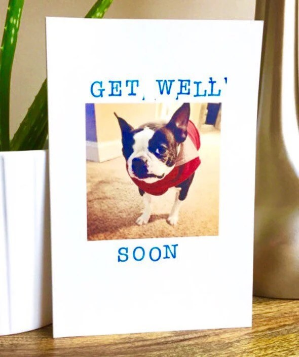 Items similar to Get Well Soon Card Feel Better Sorry You