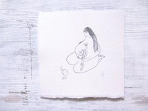 minimalist minimal pencil drawing modern bohemian