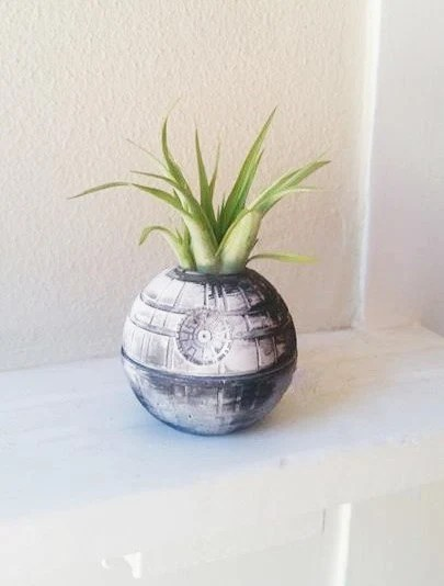 Star Wars Death Star planter air plant holder geek chic
