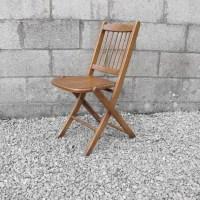 Folding Chair Mid Century Modernist Wood Design