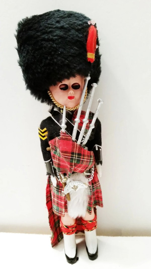 Vintage Collectable Scottish Bag Piper Doll