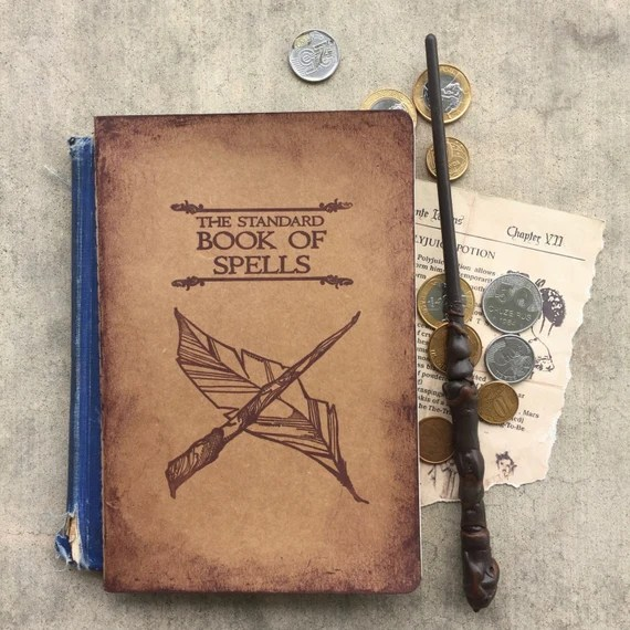 Harry Potter Notebook, Harry Potter Sketchbook, Hogwarts Notebook, The Standard Book of Spells, Harry Potter Journal, Harry Potter Gift, HP