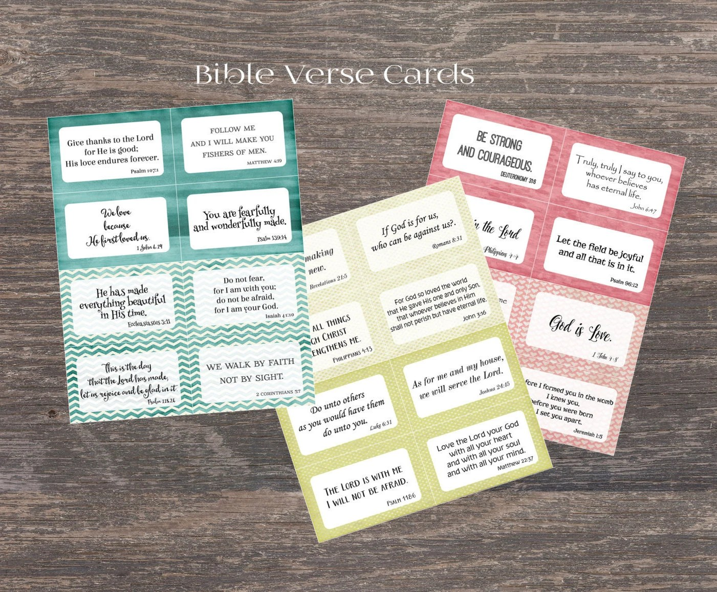 Scripture Memory Cards 24 Bible Verse Cards For Children And