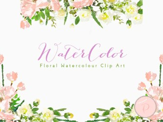 pink floral watercolor flower light wreath clip clipart baby flowers elegant frame wedding template instant digital cliparts paintings lights invitations