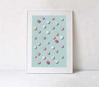 Blue and Pink Print Teal Wall Art PRINTABLE Decor Nursery