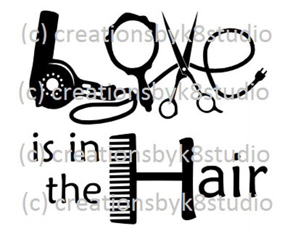 Download SVG hair dresser svg Love is in the hair by ...