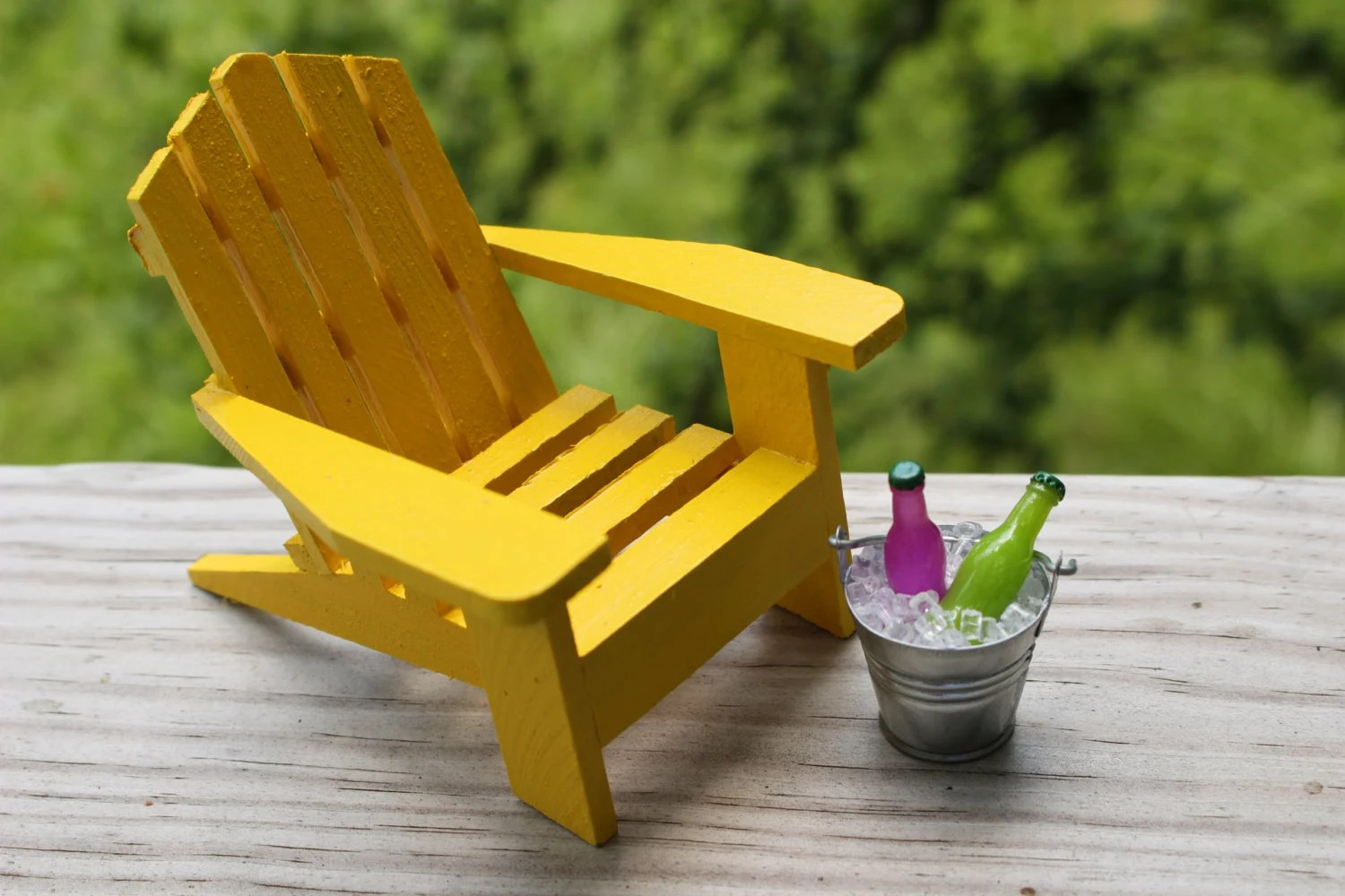 Mini Adirondack Chairs 1 Miniature Adirondack Chair Miniature Beach Chair Tin