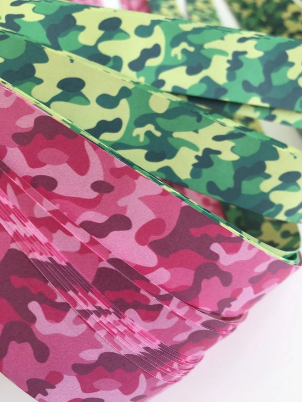 1 2 Weaving Star Paper Camouflage & Pink Camo 50