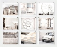 Fine Art Photography Paris Gallery Wall Art Prints White