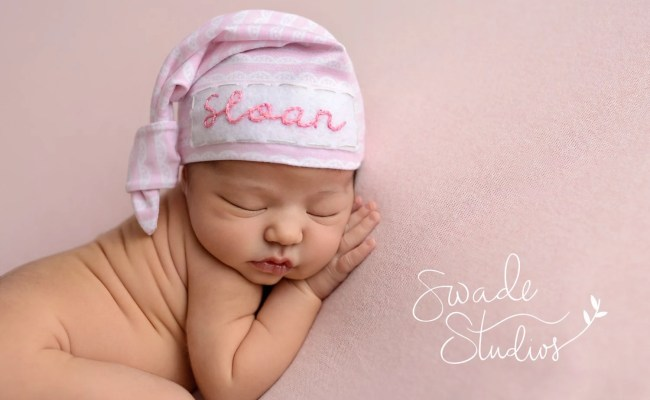 Newborn Personalized Hat Baby Girl Personalized Baby Gift