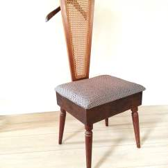 Mens Valet Chair Fur Cover Mid Century Butler Furniture Cane