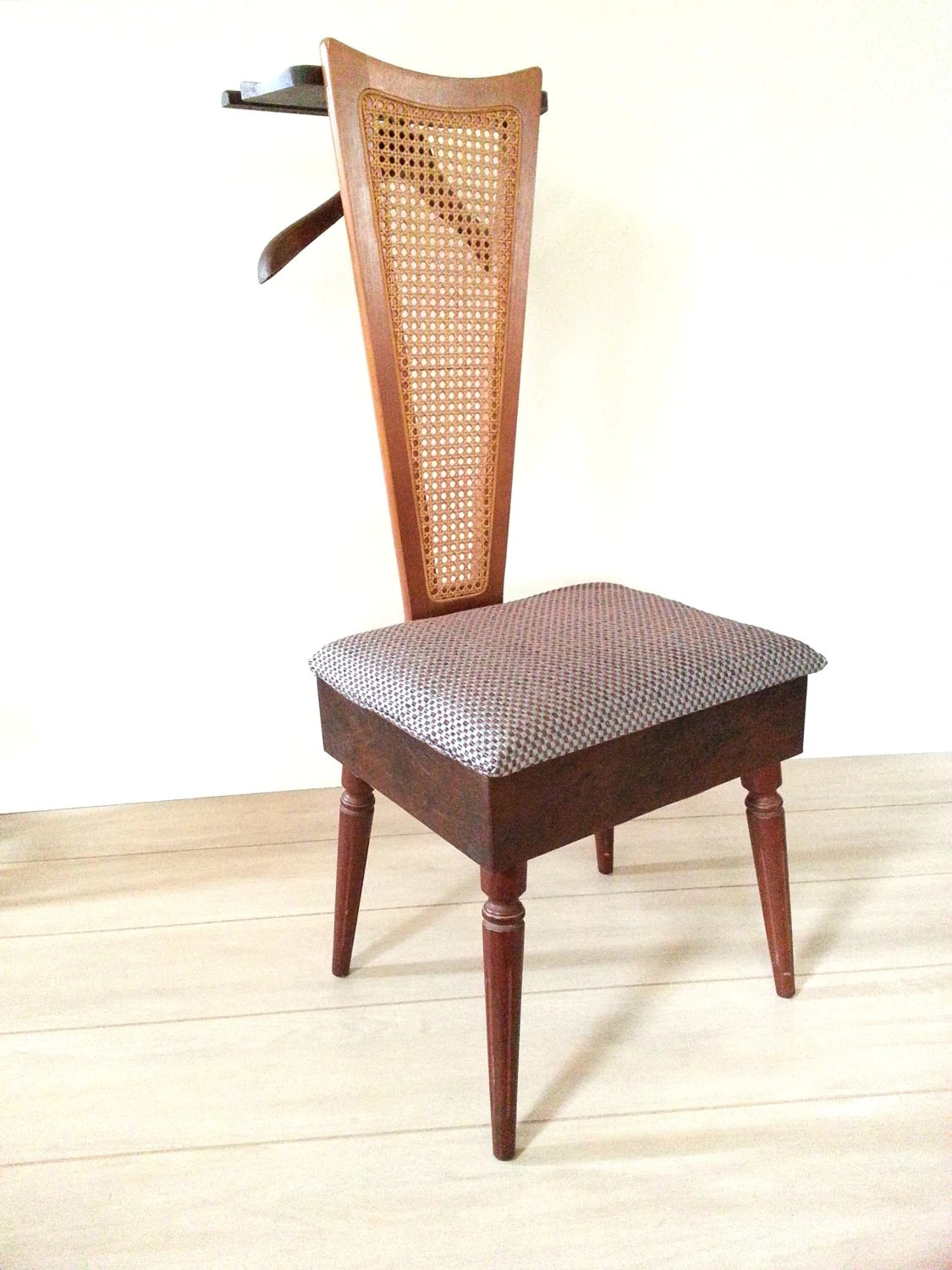 Mens Valet Chair Mid Century Valet Chair Butler Chair Furniture Cane Valet