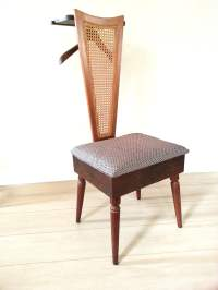 Mid Century Valet Chair / Butler Chair Furniture Cane Valet