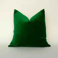 Emerald Green Velvet Chair Bar Height Folding Chairs Pillow Case Cushion