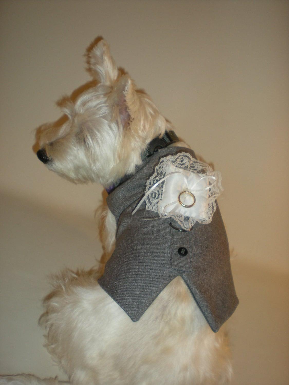 Ring Bearer Pillow Accesories Wedding Tuxedo For Dogs Custom