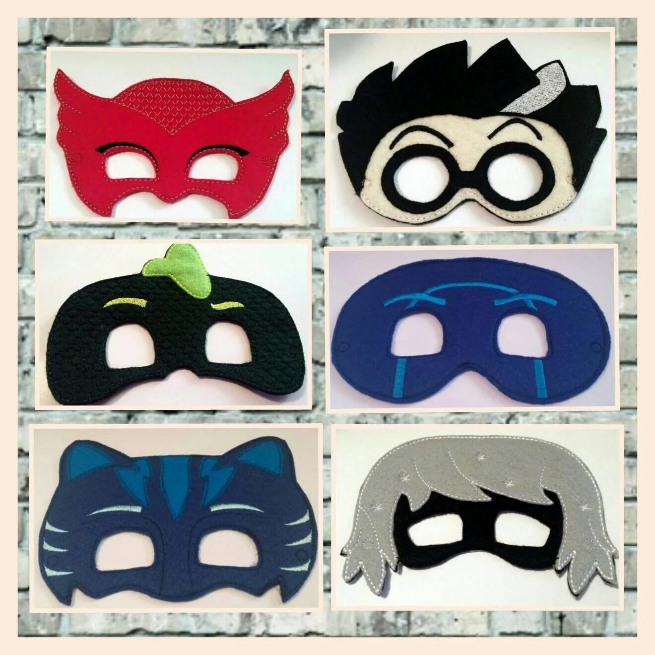 Pj Masks Pretend Play Masks Handmade Mask Dress Up Mask