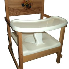 Wooden Potty Chair Vintage Velvet With Tray Old Fashioned By 1950spottychairs