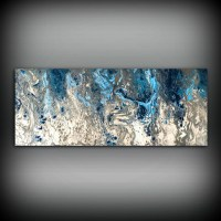 Large Abstract Painting Print Navy Blue Print Art Large ...