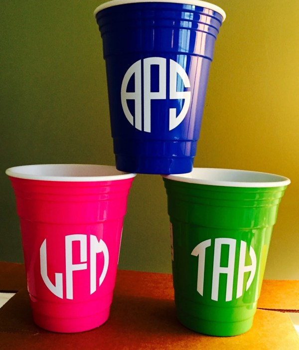 Personalized Acrylic Solo Cups Greek Letters-girl' Night