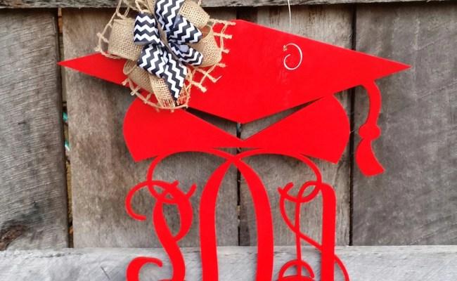 Graduation Door Hanger Painted Graduation Wreath