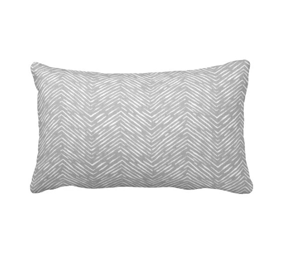 7 Sizes Available Grey Throw Pillow Cover Gray Throw Pillow