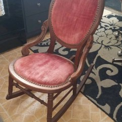 Victorian Rosewood Chairs Ghost Replica Parlor Rocking Chair