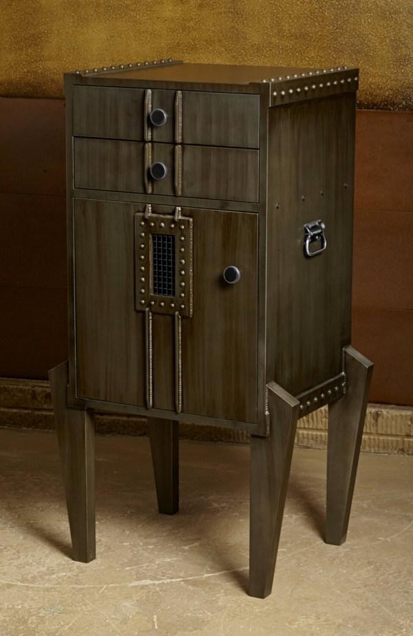 Industrial Modern Liquor Cabinet Steampunk Style