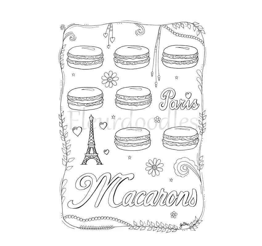 Macaron Coloring Pages Sketch Coloring Page