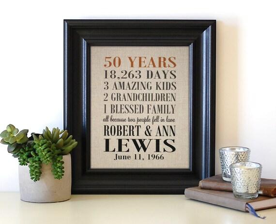 50th Anniversary Gifts 50th Anniversary Print Grandparent