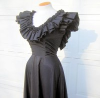 Black Prom Dress Formal Vintage 70s Extra Small by FashionPuss