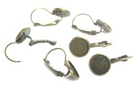 antique brass earring blanks - French lever back jewelry ...