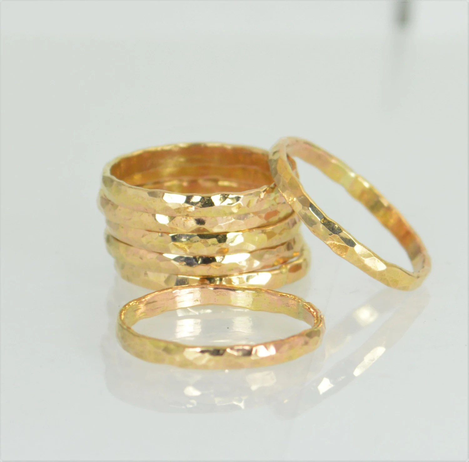 Thick 14k Gold Filled Stackable Rings Gold Rings Stacking