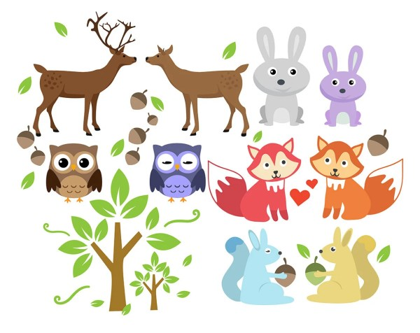 forest animal clipart animals