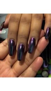 mirror nail chrome powder purple blue