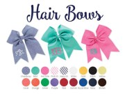 personalized hair bows monogrammed