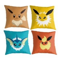 Eevee Evolutions Throw Pillows: Pokemon Inspired Filled