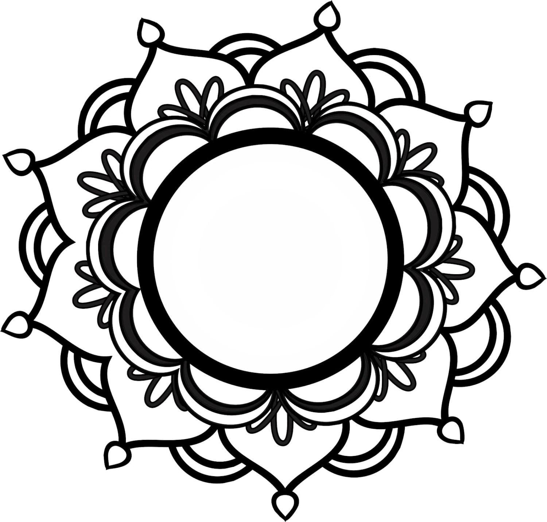 Monogram Mandala SVG from ShelbysSVGShop on Etsy Studio