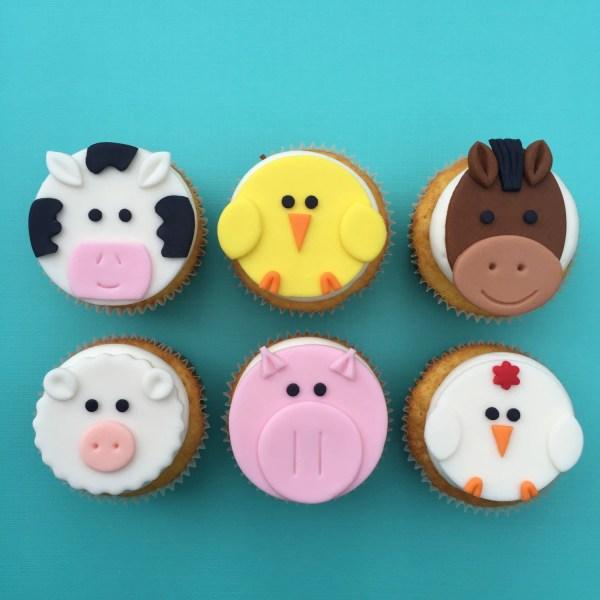 Farm Animal Cupcake Toppers-fondant Bakerslovebakery