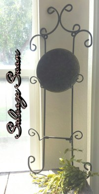 Wrought Iron Plate Holder French Country Kitchen Decor