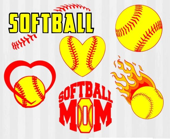 softball svg clipart