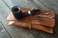 Leather Pipe Tobacco Pouch Roll 100% Genuine Old School