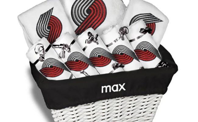 Personalized Portland Trail Blazers Baby Gift Basket 2 Bibs