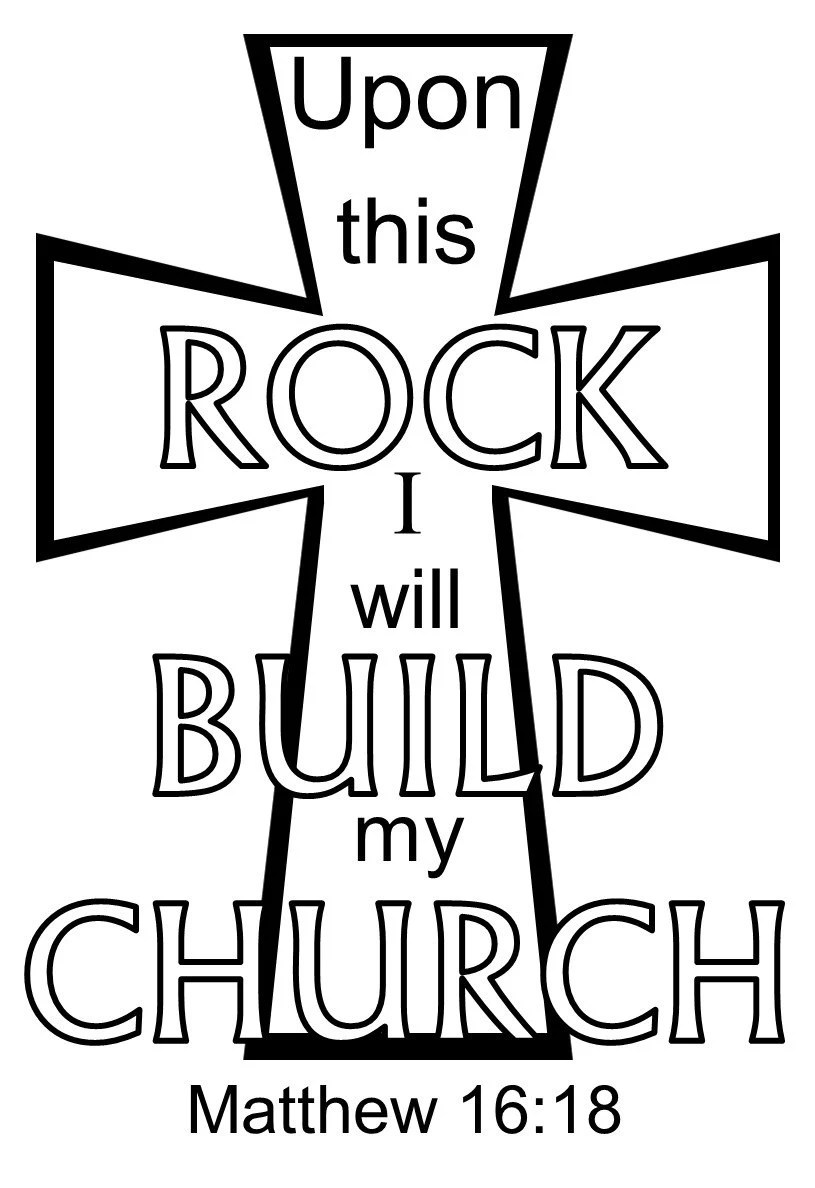 Upon this Rock I will build My Church digital cut files