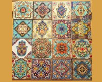 Hamsa wall art set old Moroccan Wall art moroccan Blocks Set