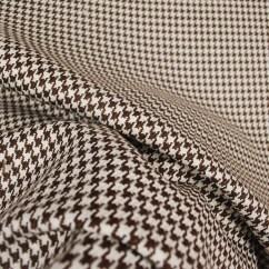 Houndstooth Sofa Fabric Teddy Bear D2918 Chocolate Upholstery