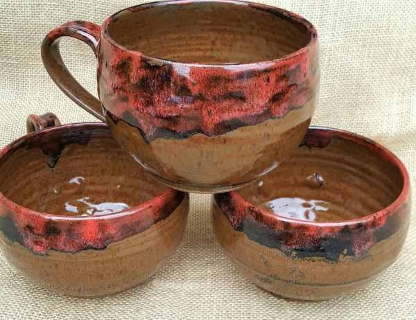 Large Soup Bowls with Handles