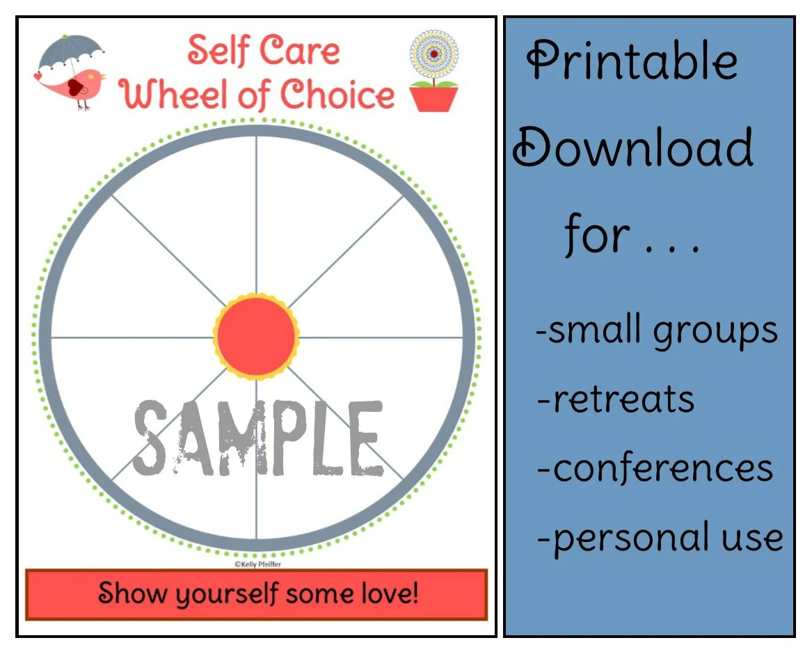 Self Care Wheel Worksheet