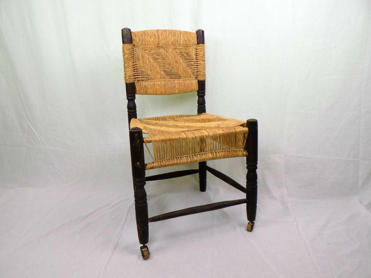 how to rush a chair posh covers and bows durham antique woven seat back by 1littletreasureshop