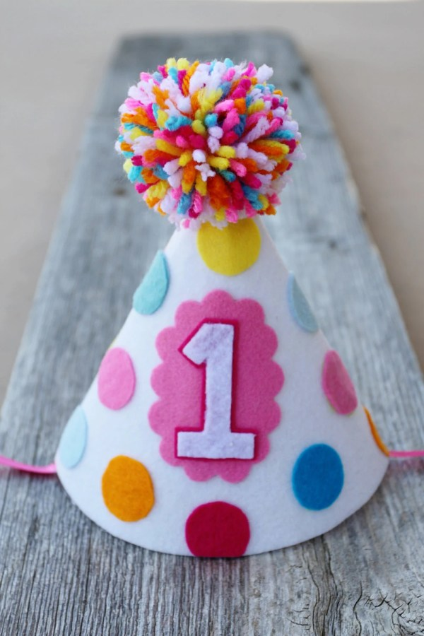 Boy Girl Twins 1st Birthday Party Hats Polkadot